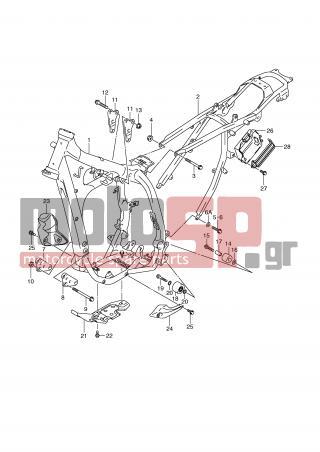 motoSP - SUZUKI - DR-Z400SM (E2) 2007 - Frame - FRAME replacement parts