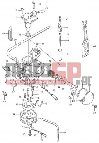 SUZUKI - AG100 X (E71) Address 1999 - Engine/Transmission - CARBURETOR - 13394-40D20-000 - CLIP, NEEDLE