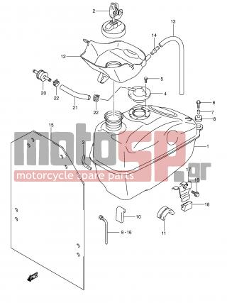 SUZUKI - AN400 (E2) Burgman 2006 - Body Parts - FUEL TANK - 44200-14840-000 - CAP SET, FUEL TANK