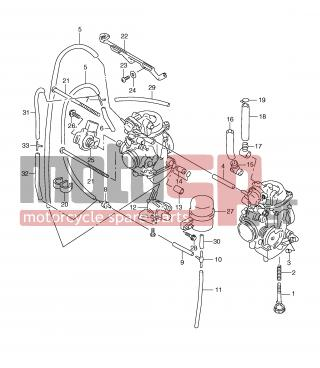SUZUKI - XF650 (E2) Freewind 2001 - Engine/Transmission - CARBURETOR FITTINGS - 13683-04F30-000 - HOSE (3.2X7.4X230)