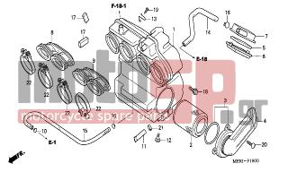 HONDA - CBF600N (ED) 2004 - Engine/Transmission - AIR CLEANER - 17231-MBZ-G00 - COVER, AIR CLEANER