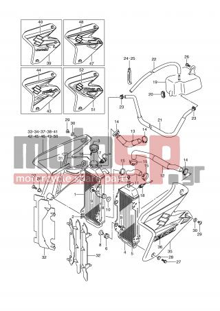 SUZUKI - DR-Z400 S (E2) 2006 - Engine/Transmission - RADIATOR - 09168-06026-000 - GASKET, AIR RELEASE
