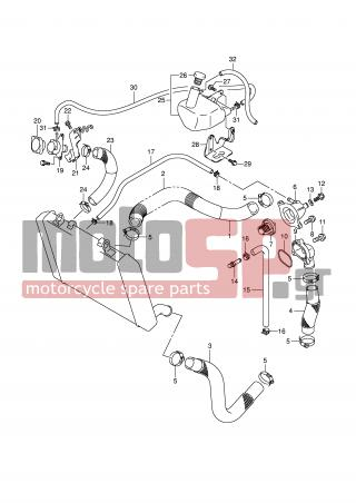 SUZUKI - GSR600A (E2) 2008 - Engine/Transmission - RADIATOR HOSE - 01547-0620A-000 - BOLT