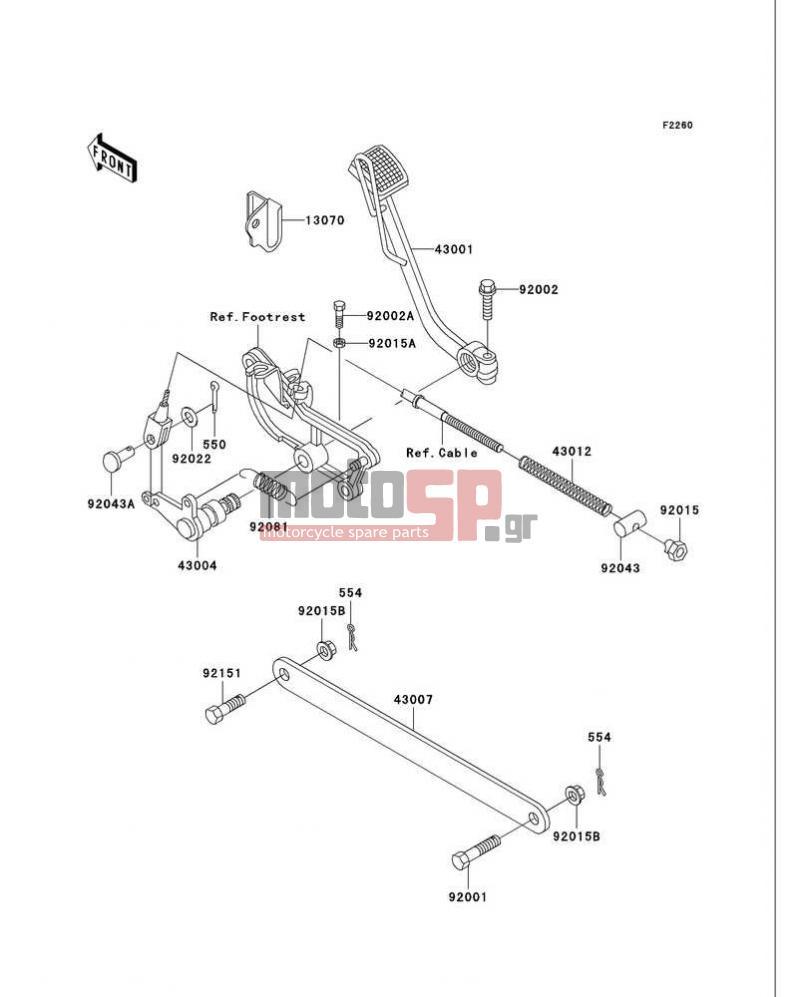 Motosp Kawasaki Vulcan 750 1999 Replacement Parts Vn750 Headlight Wiring Diagram Brake Pedal Torque Link