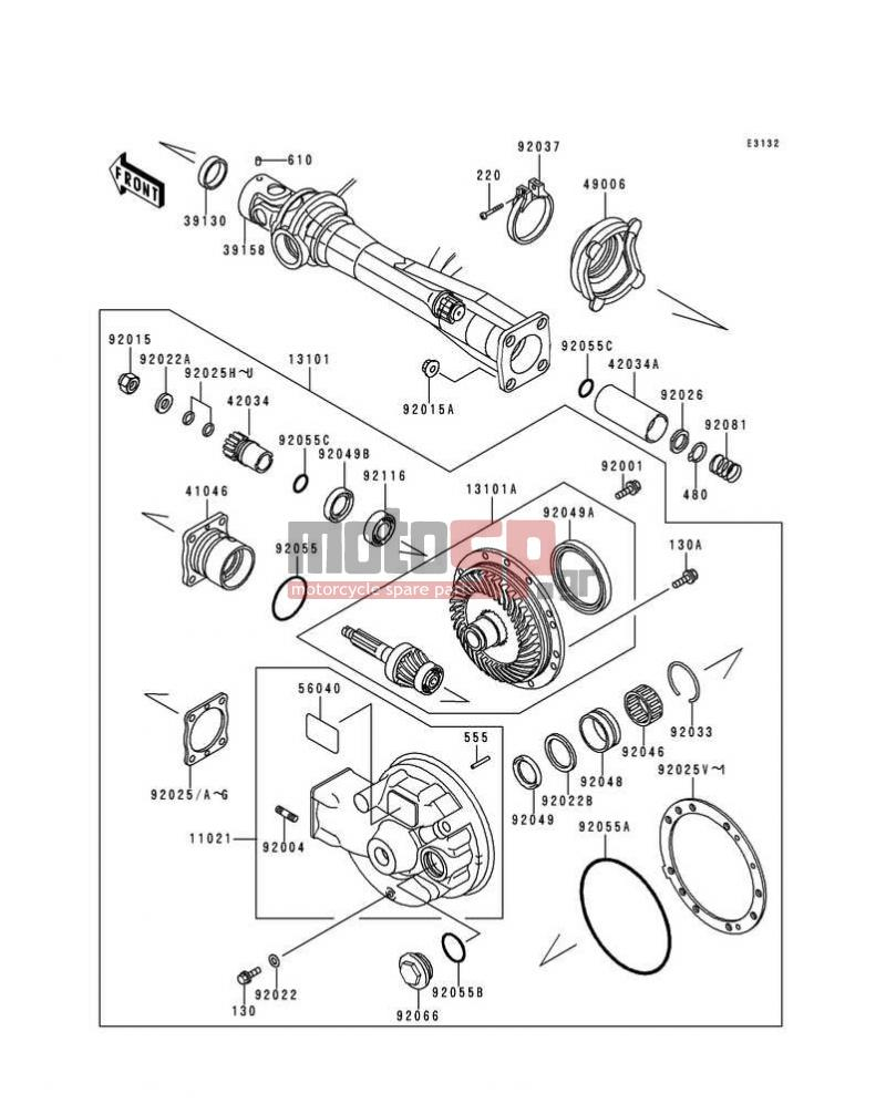 Motosp Kawasaki Concours 1997 Engine Transmission Replacement 220 Diagram Transmissiondrive Shaft Final Gear