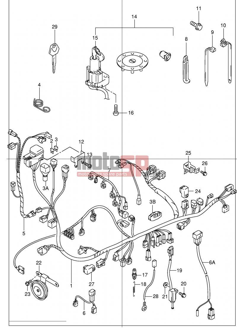 Motosp Suzuki Gsx1300r E2 Hayabusa 2001 Electrical Wiring Fuse Box Location