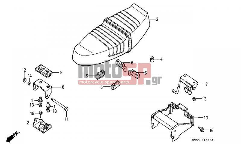 Motosp Honda C90 Gr 1996 Body Parts Replacement Parts