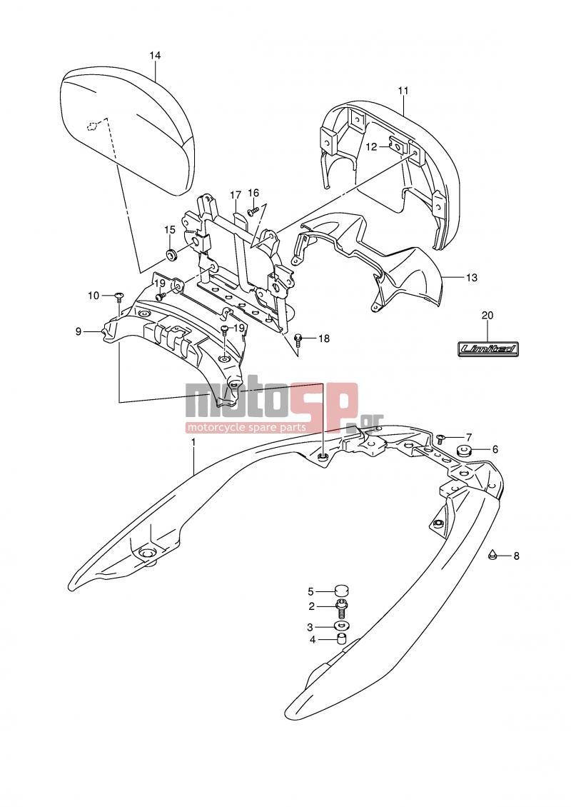 Motosp Suzuki An400 E2 Burgman 2007 Body Parts