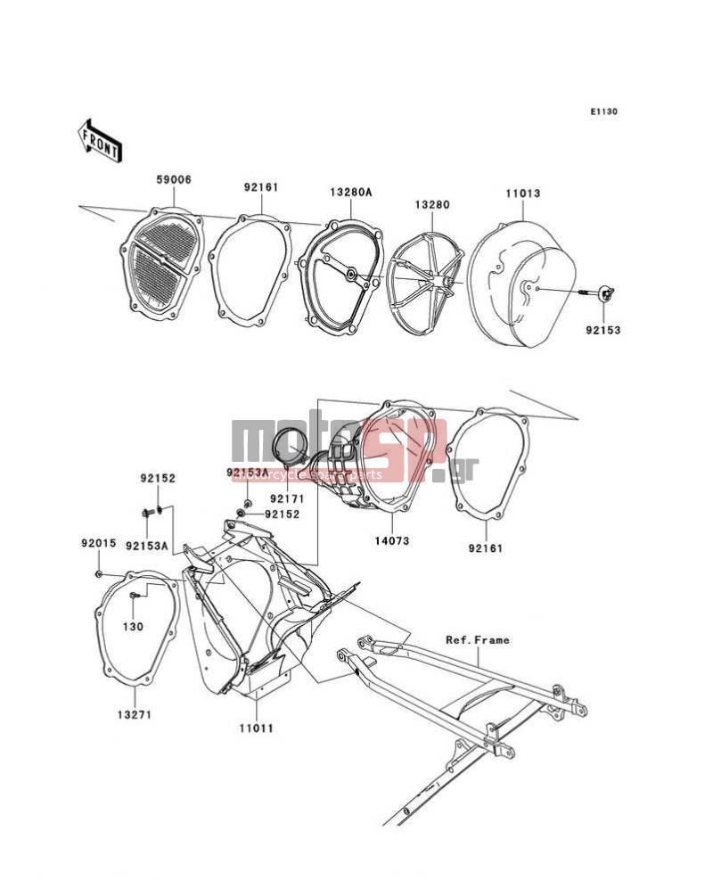 Motosp Kawasaki Kx250f 2007 Engine Transmission Replacement Parts Wiring Diagram Transmissionair Cleaner