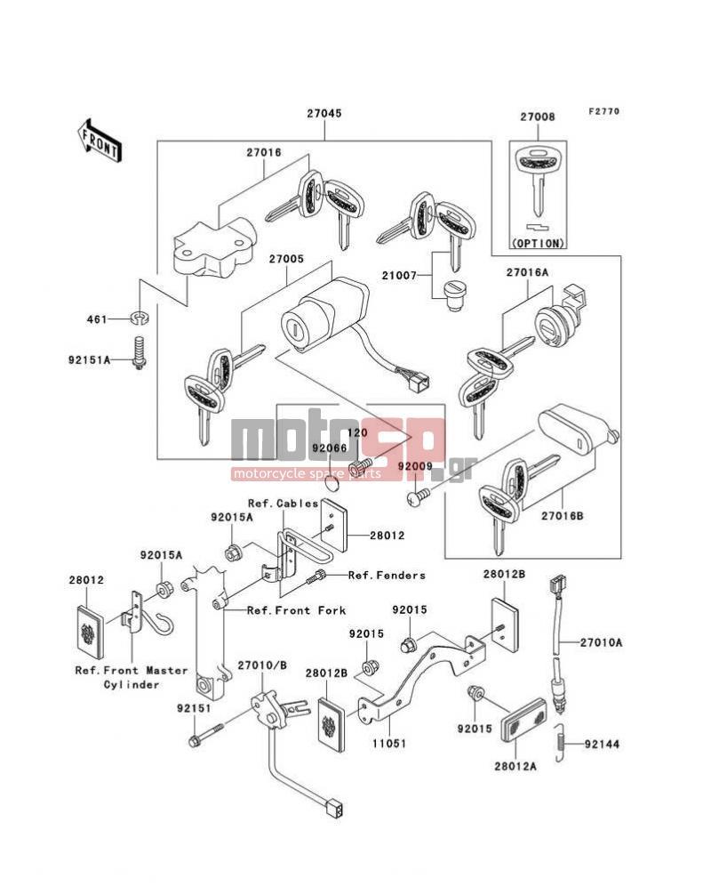 ignition switch/locks/reflectors