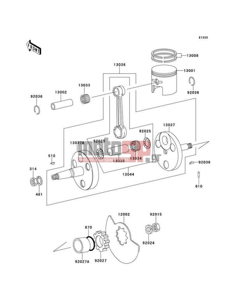 kawasaki - ke100 2001 - crankshaft/piston(s)
