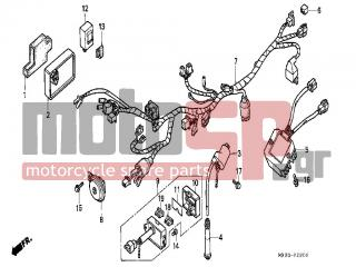 honda - nx650 (ed) 1988 - electrical - wire harness/ignition coil