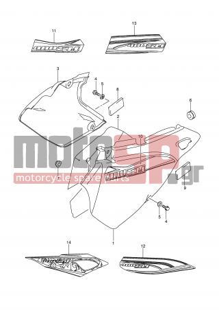 motoSP - SUZUKI - DR-Z400SM (E2) 2007 - Body Parts - FRAME COVER ...