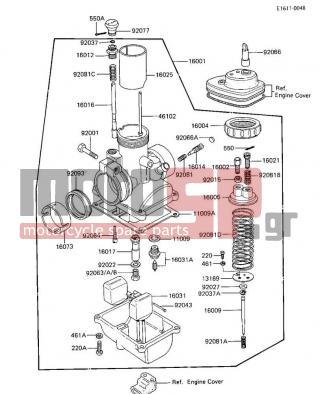 motoSP - KAWASAKI - KE100 1984 - Engine/Transmission