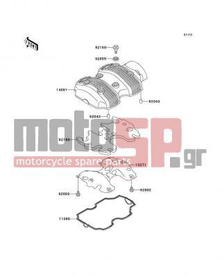kawasaki - w650 2000 - engine/transmission - cylinder head cover