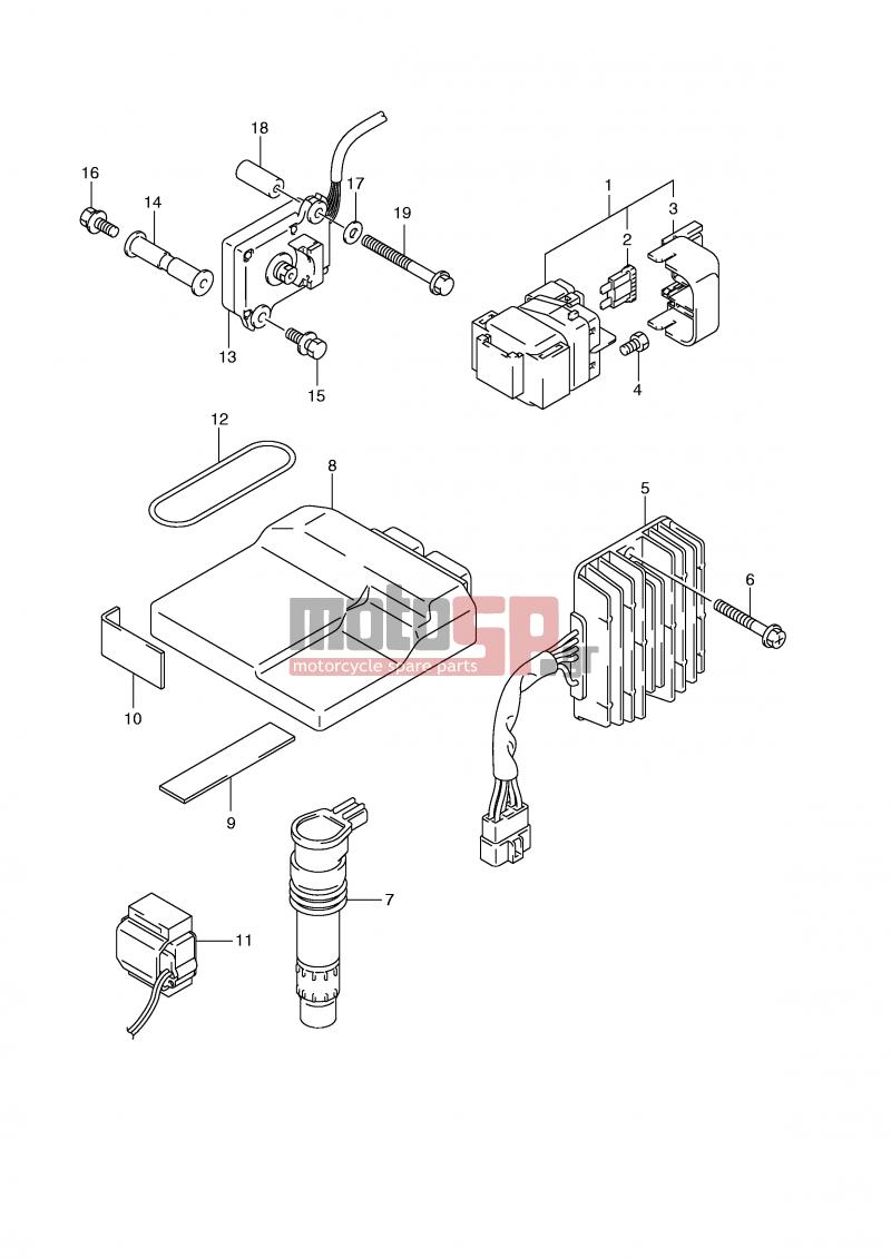 Motosp Suzuki Gsx R1000 E2 2001 Electrical Replacement Parts E24 Wiring Diagrams Electricalelectrical R1000k2