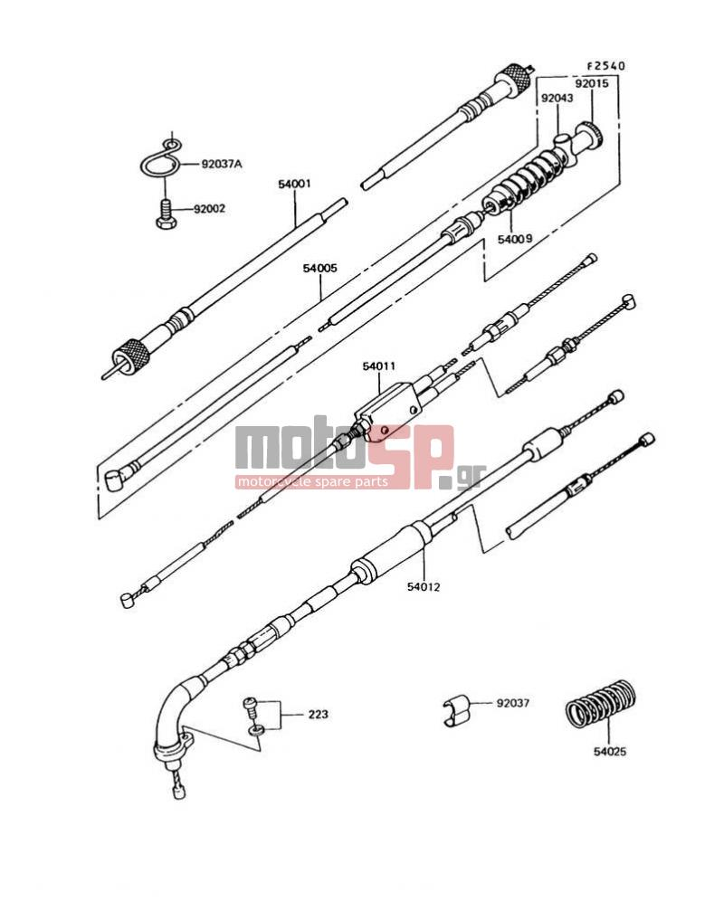 motoSP - KAWASAKI - KE100 1996 - replacement parts on
