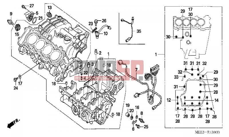 honda - cbr600rr (ed) 2003 - engine/transmissioncrankcase