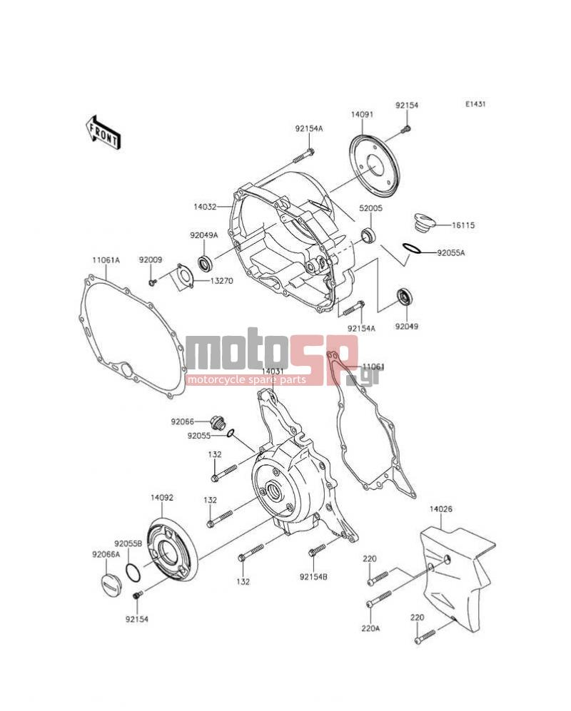 Motosp Kawasaki Kaze Hit 2013 Engine Transmission 220 Diagram