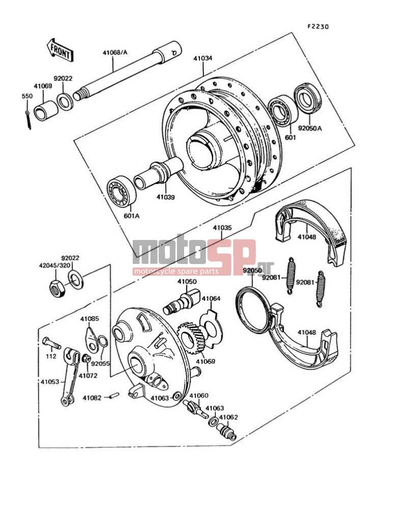 motoSP - KAWASAKI - KE100 1995 - replacement parts on