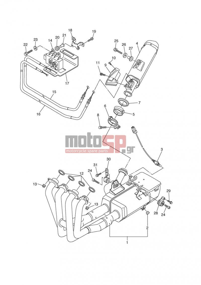 Motosp Yamaha Yzf R6 Grc 2006 Replacement Parts Engine Diagram Exhaust