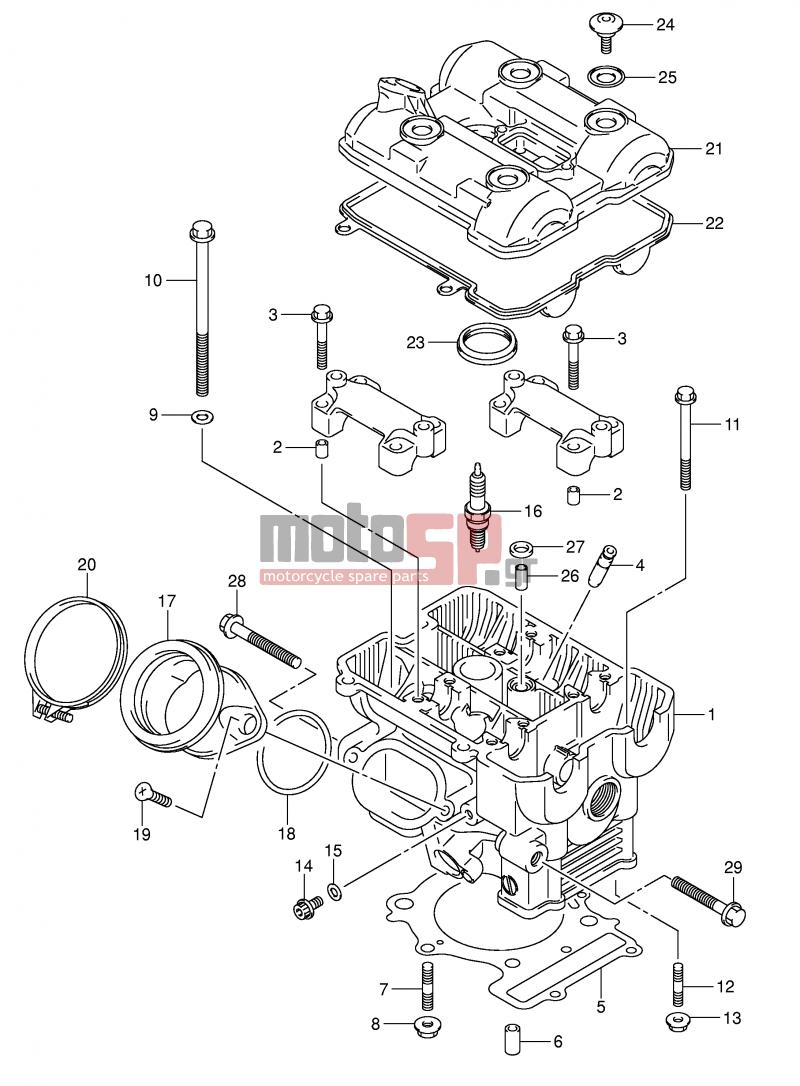 2004 Sv1000 Wiring Diagram Electrical Diagrams 2003 Suzuki Motosp E2 Engine Transmission Rear Sv1000n