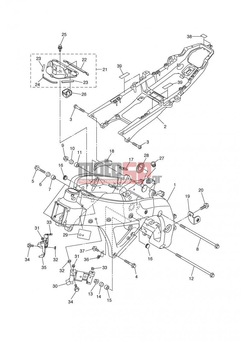 motoSP - YAMAHA - YZF R6 (GRC) 2006 - Frame replacement parts