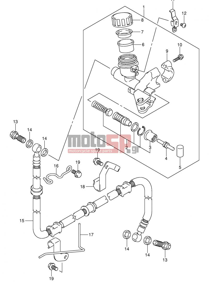 Motosp Suzuki Sv1000 E2 2003 Engine Transmission Replacement Motorcycle Wiring Diagram All About Diagrams Transmissionclutch Master Cylinder Sv1000s