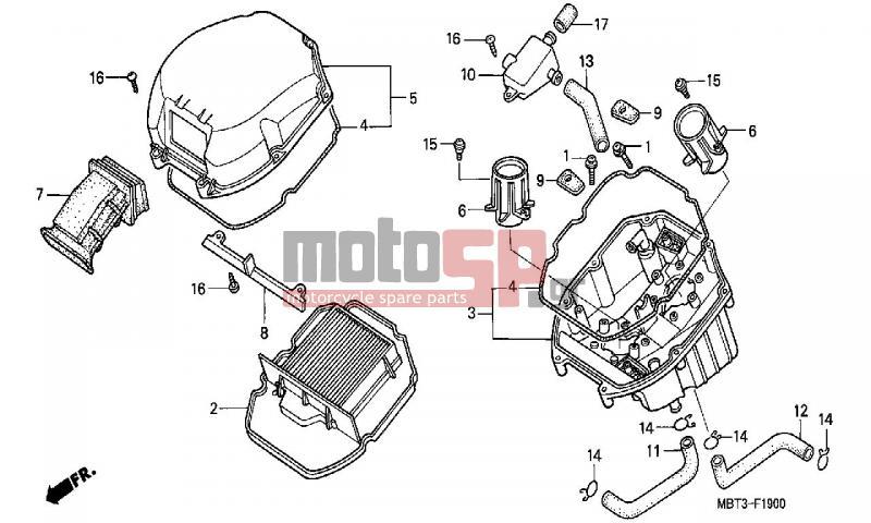 motosp - honda - xl1000v  ed  varadero 2000 - engine  transmission
