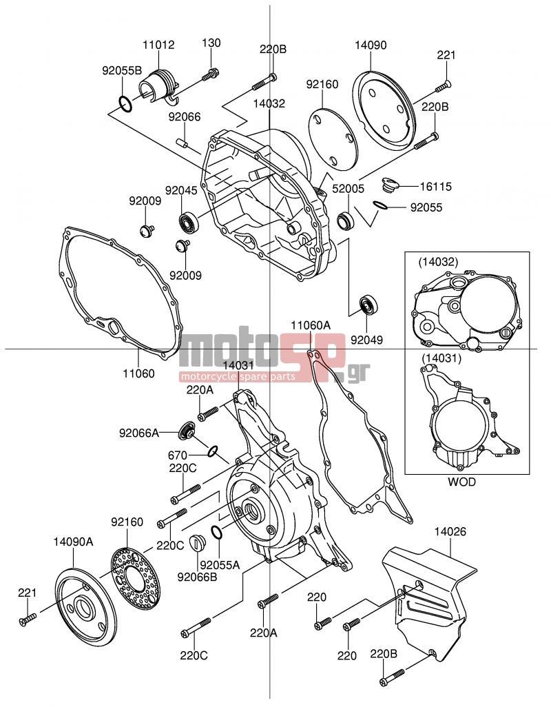 Motosp Suzuki Fd112k E41 Shogun 2003 Engine Transmission Assembly Diagram