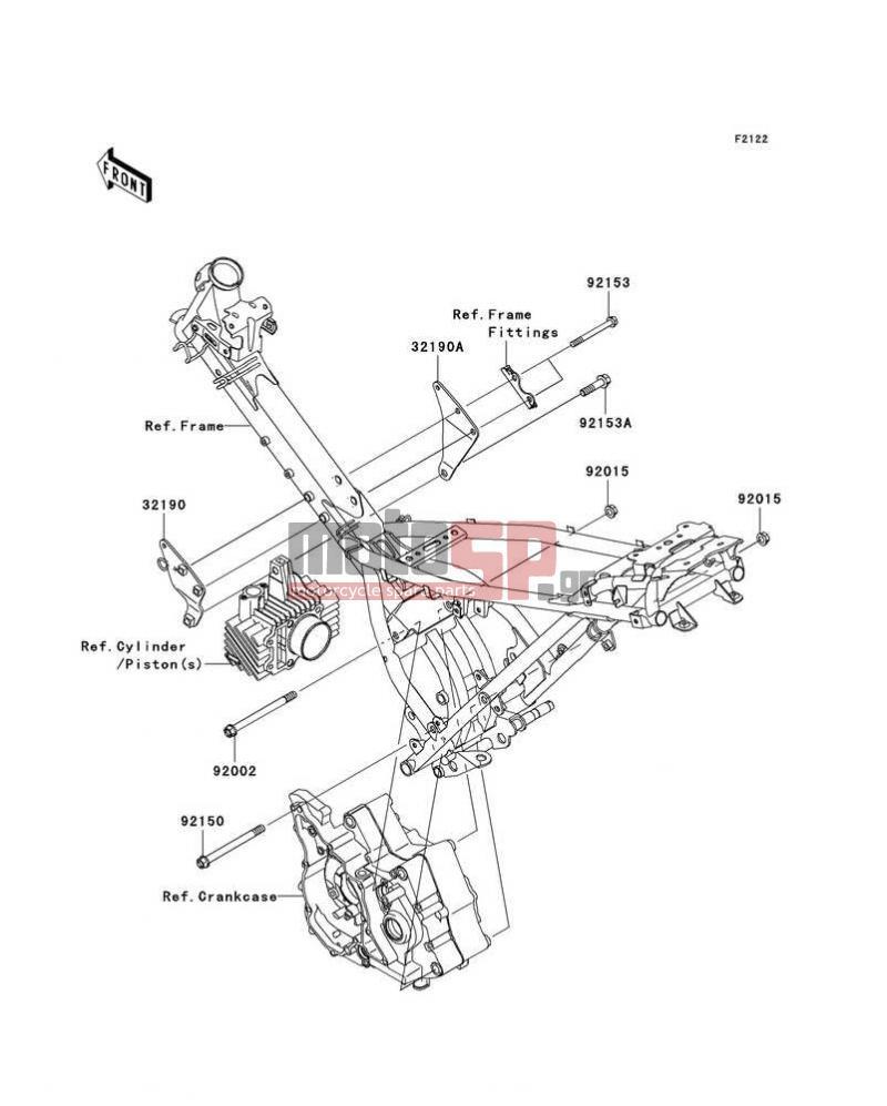 Motosp Kawasaki Fury 125r 2010 Engine Transmission Replacement Mounting Diagrams Transmissionengine Mount