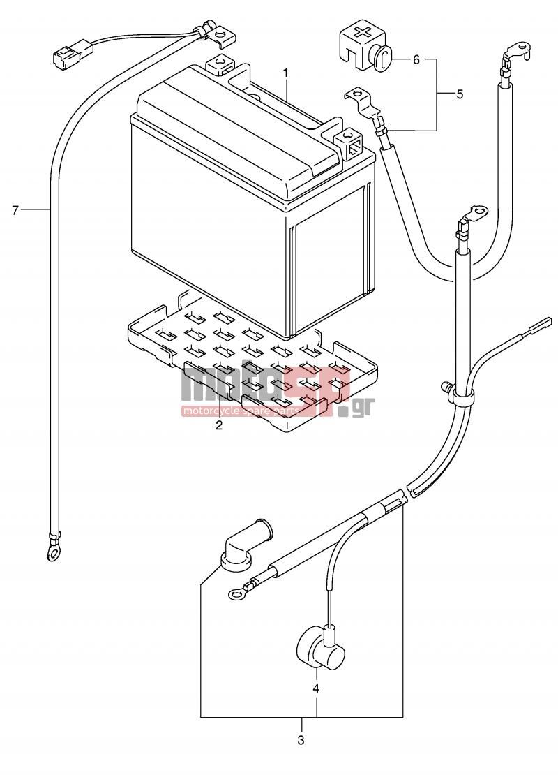 SUZUKI - SV1000 (E2) 2003 - ElectricalBATTERY (SV1000/U1/U2)