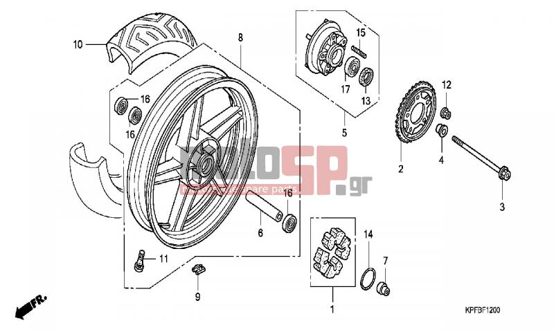 Motosp Honda Cbf250 Ed 2006 Service Replacement Parts