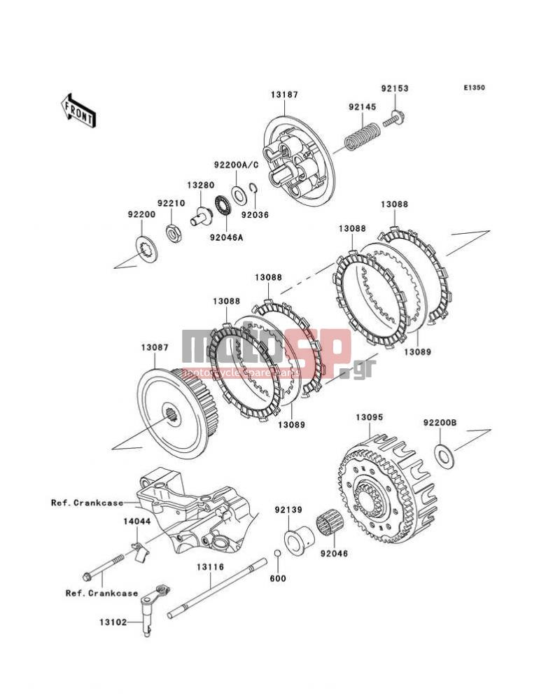 Motosp Kawasaki Kx250f 2007 Engine Transmission Replacement Parts Wiring Diagram Transmissionclutch