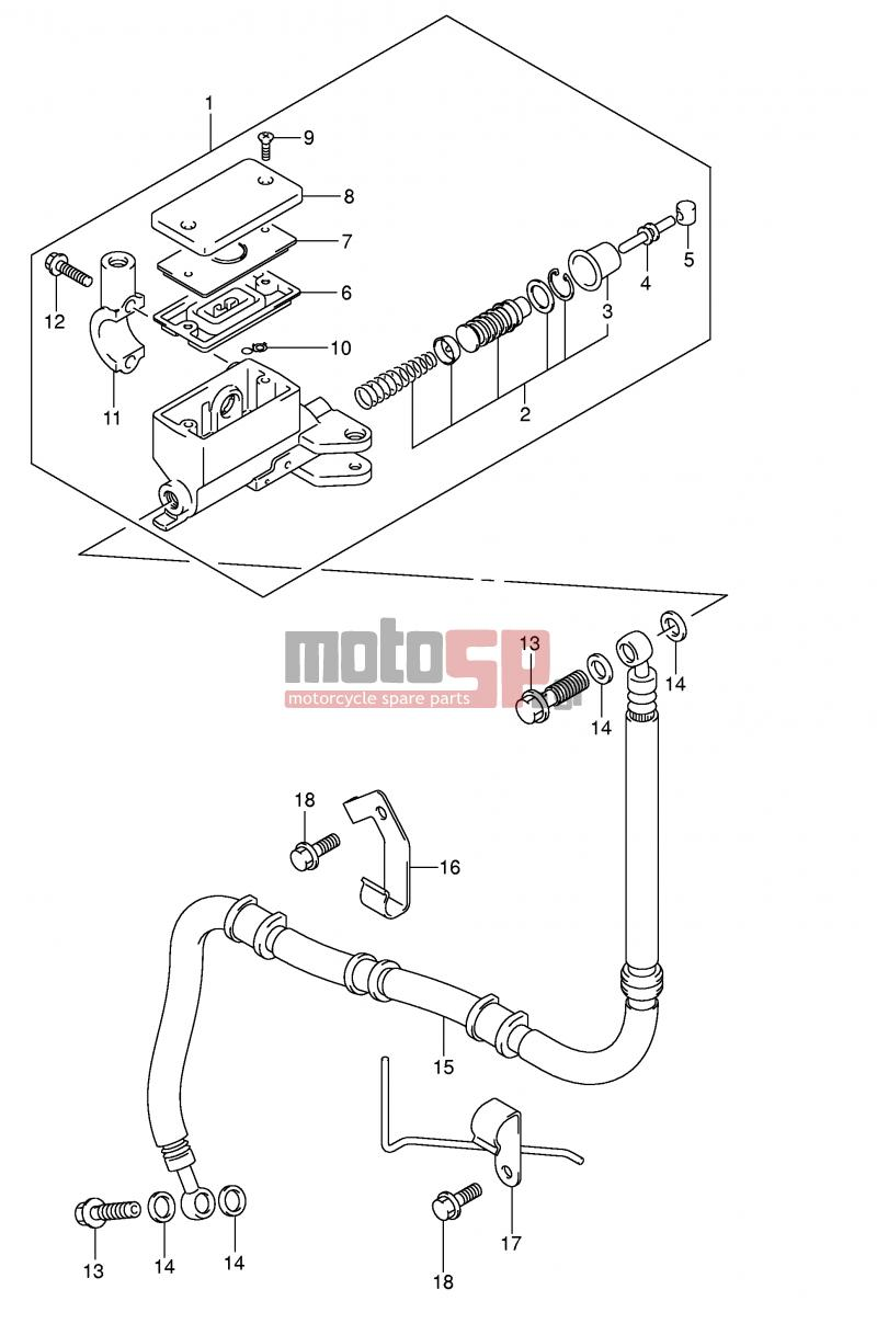suzuki - sv1000 (e2) 2003 - engine/transmissionclutch master cylinder ( sv1000/