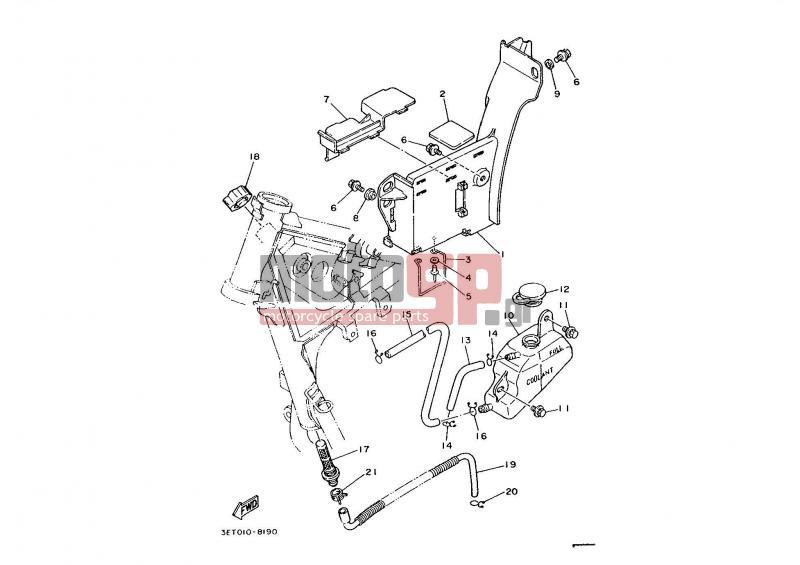 motosp yamaha dt200r (eur) 1989 replacement parts Yamaha Dt200r Wiring Diagram ...