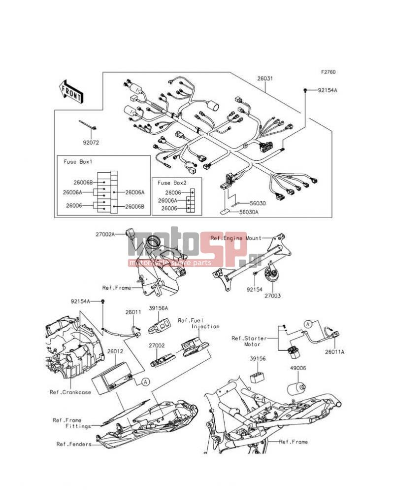 Kawasaki Z800 Fuse Box Wiring Library 2003 Z1000 Electrical Diagram Abs 2016 Chassis Equipment