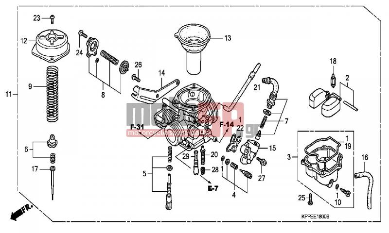 motoSP - HONDA - CBR125R (ED) 2004 - Engine/Transmission