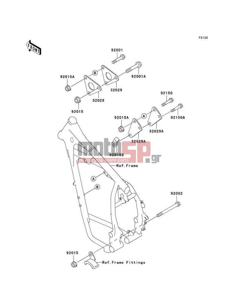 Motosp Kawasaki Klr650 2004 Replacement Parts Engine Diagram Mount