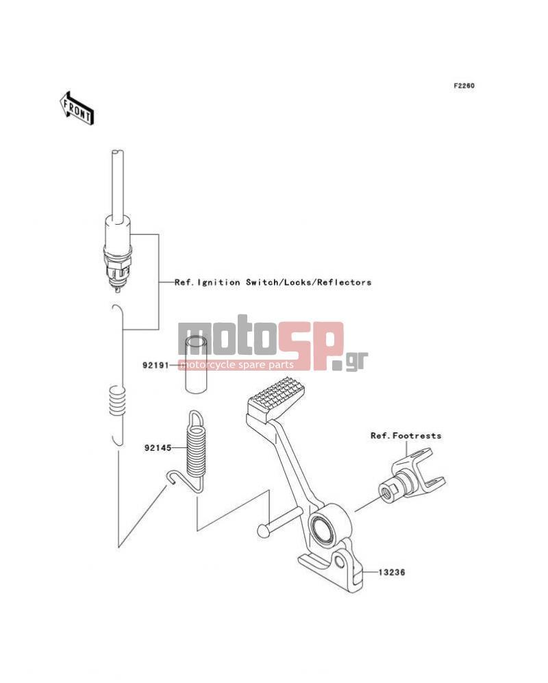 KAWASAKI - Z1000 2004 - Brake Pedal/Torque Link