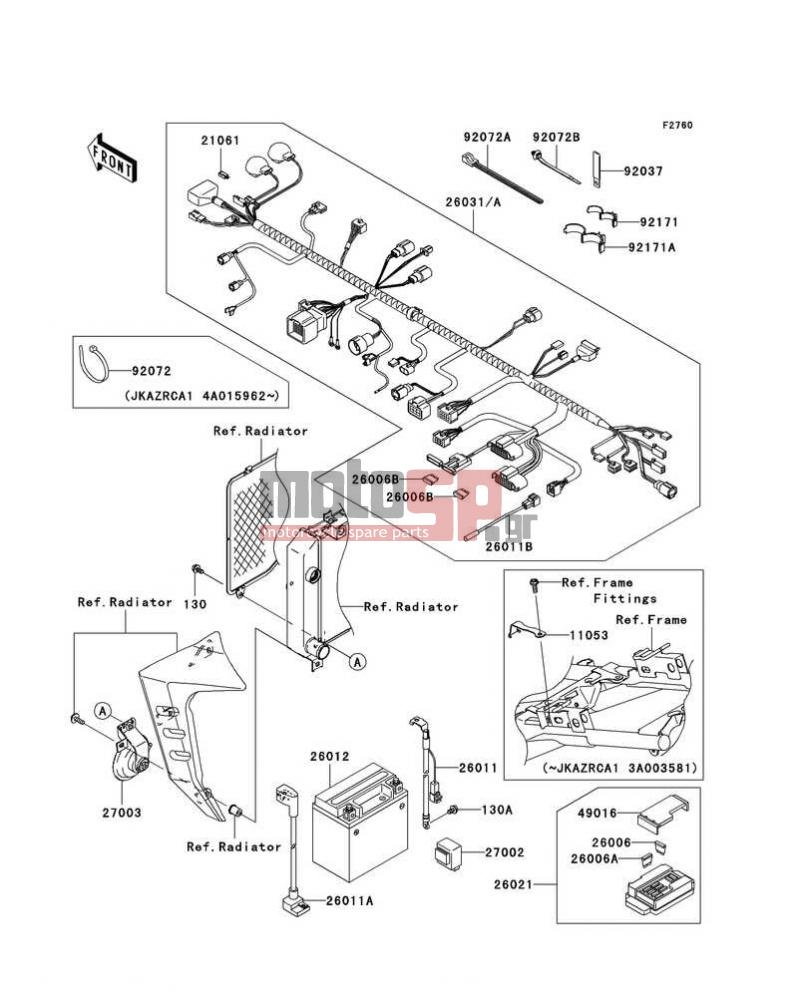 Z1000 Wiring Diagram Detailed Schematics Kawasaki Zx9r Free Picture Schematic 2004 Diagrams Electrical Motosp Replacement Parts