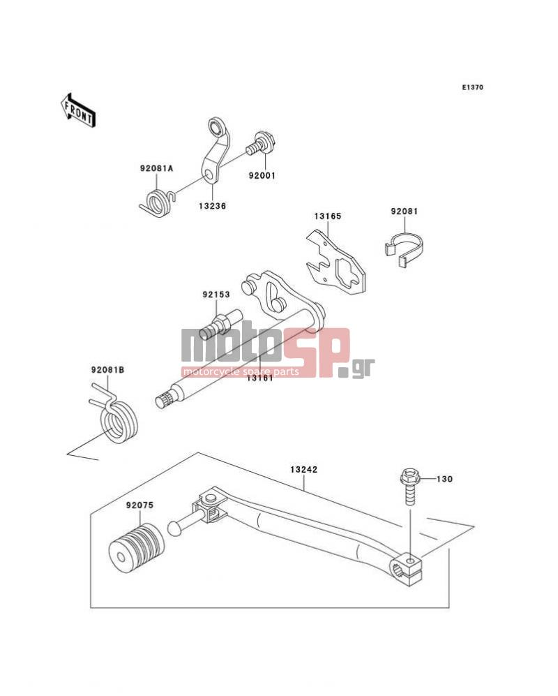 Motosp Kawasaki Klr650 2003 Engine Transmission Replacement Parts Diagram Transmissiongear Change Mechanism