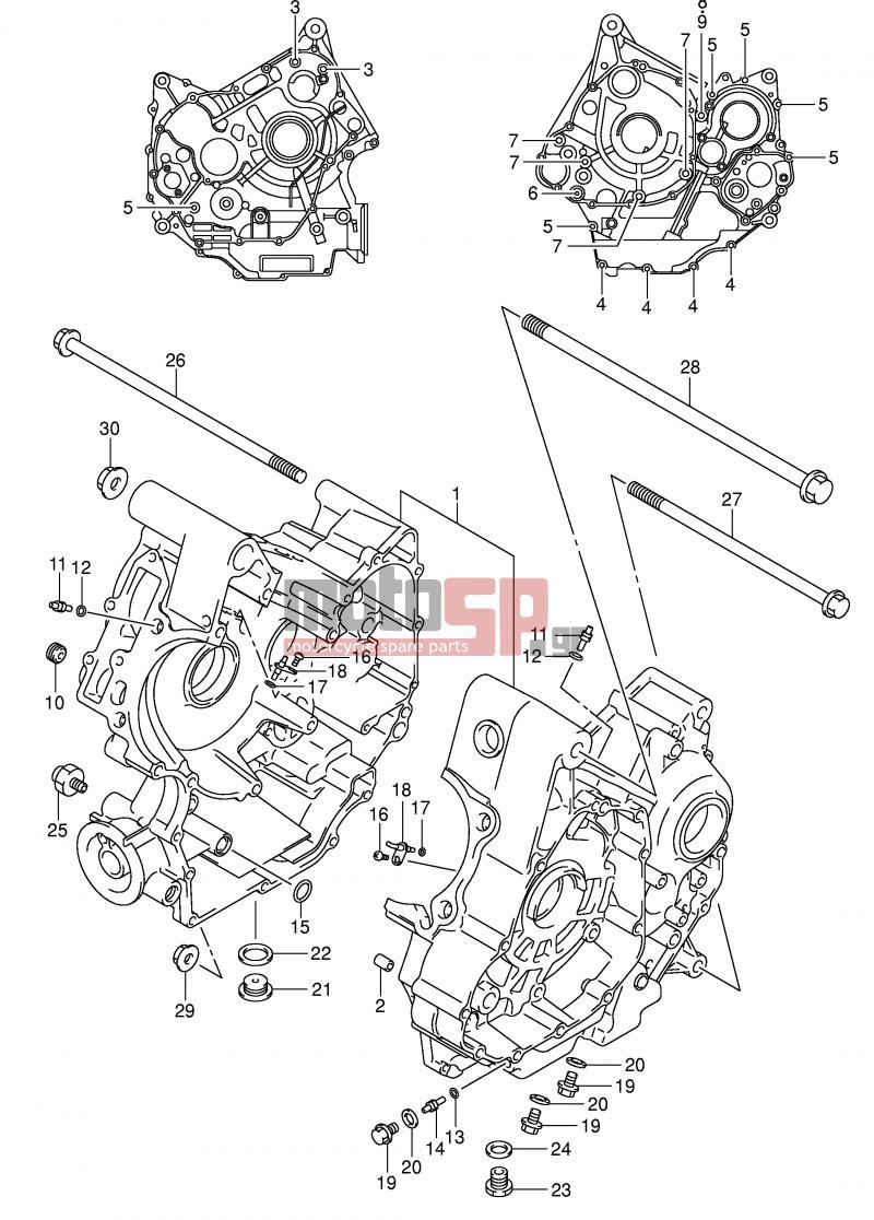 suzuki - sv1000 (e2) 2003 - engine/transmissioncrankcase