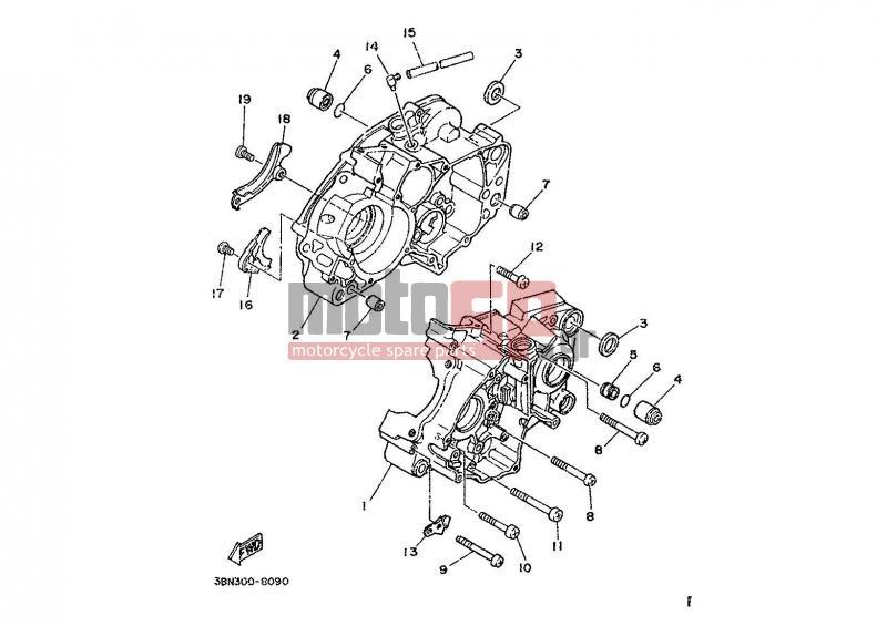 Motosp Yamaha Dt200r Eur 1989 Engine Transmission