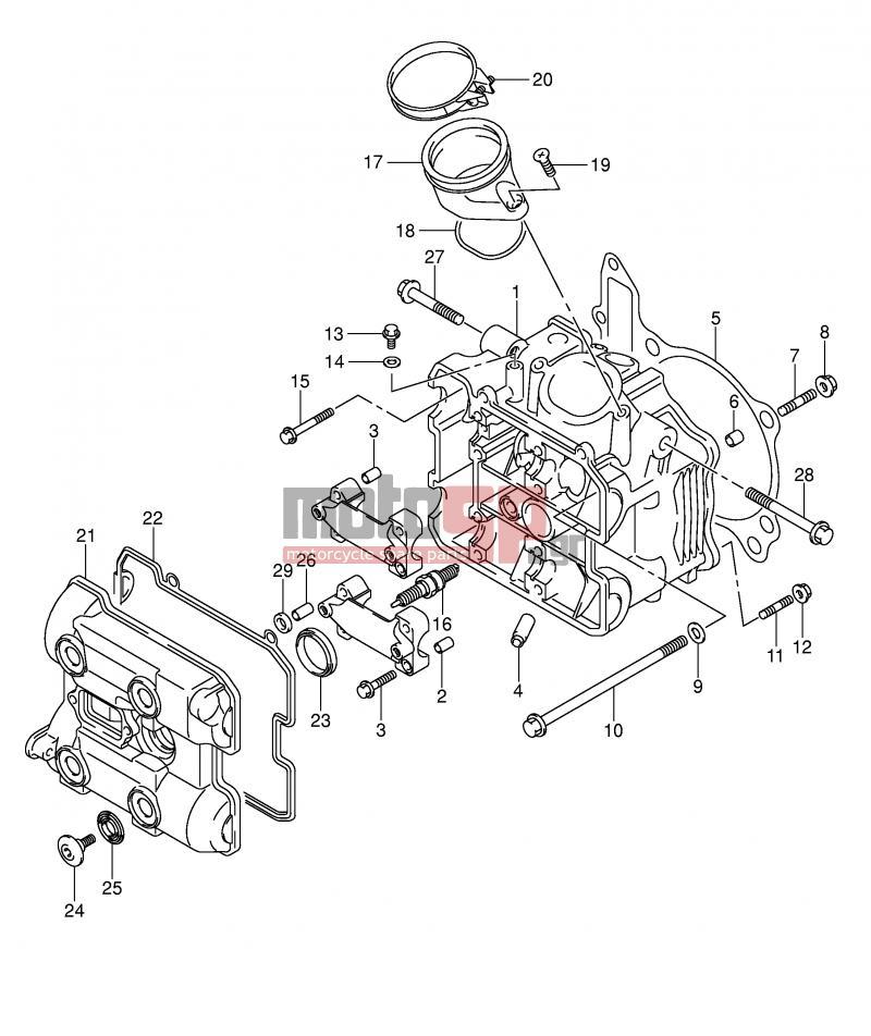 suzuki - sv1000 (e2) 2003 - engine/transmissionfront cylinder head
