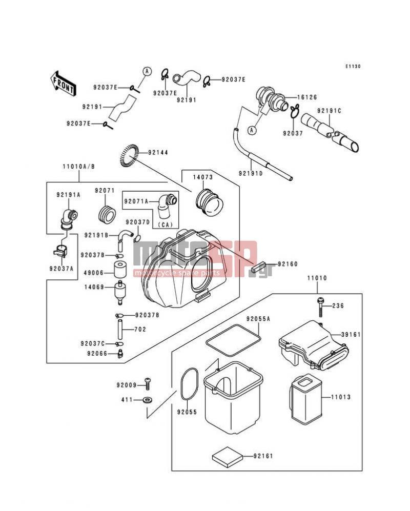Motosp Kawasaki Zr 7 2000 Replacement Parts 7s Wiring Diagram Air Cleaner