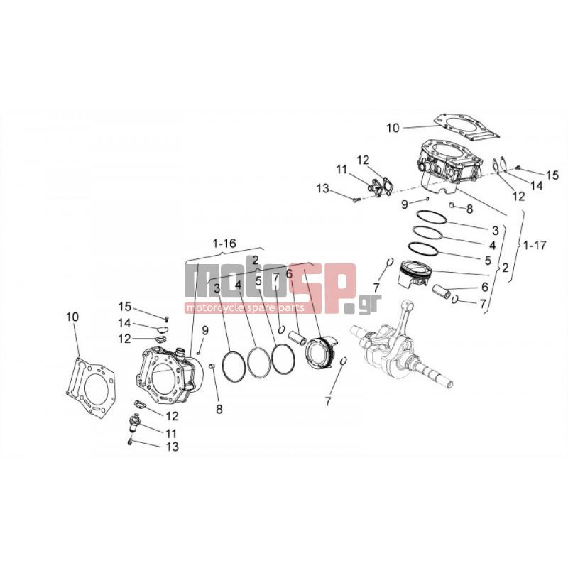aprilia - mana 850 2008 - cylinder with piston