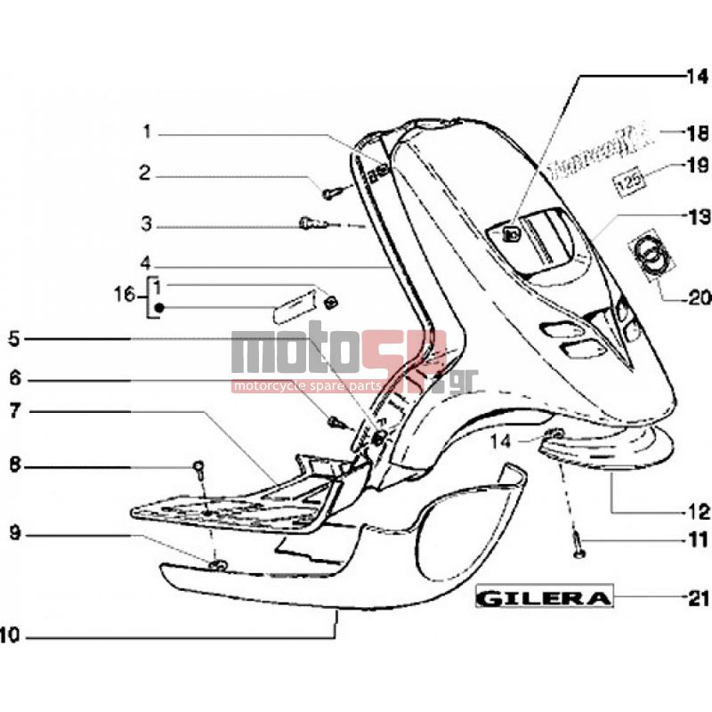 Motosp Piaggio Typhoon 125 Xr Lt 2005 Replacement Parts