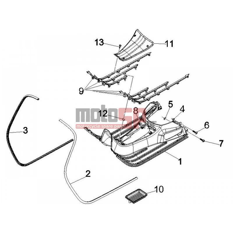 motoSP - Vespa - GTV 250 IE 2009 - Parts replacement parts on